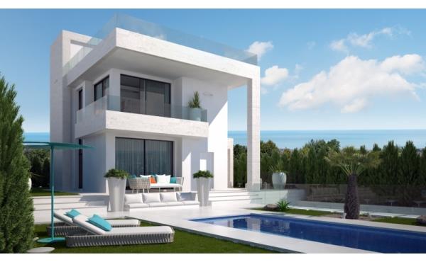 Modern villa in Villamartin with sea and golf views