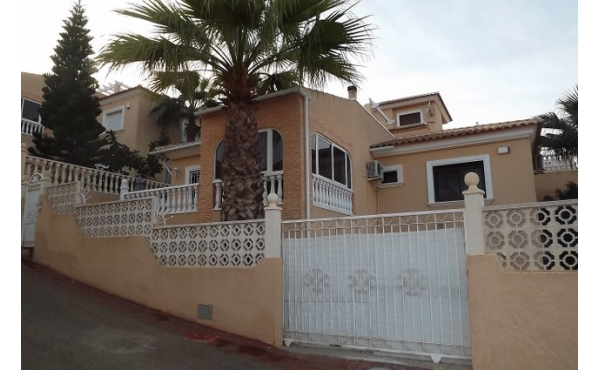 Detached villa with underbuild and private pool.