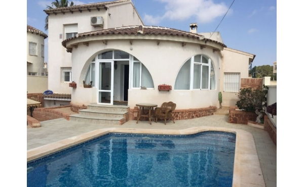 Refurbished villa with private pool.