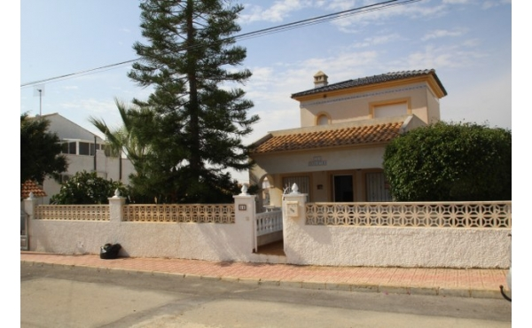 Detached villa with under build and room for a private pool.