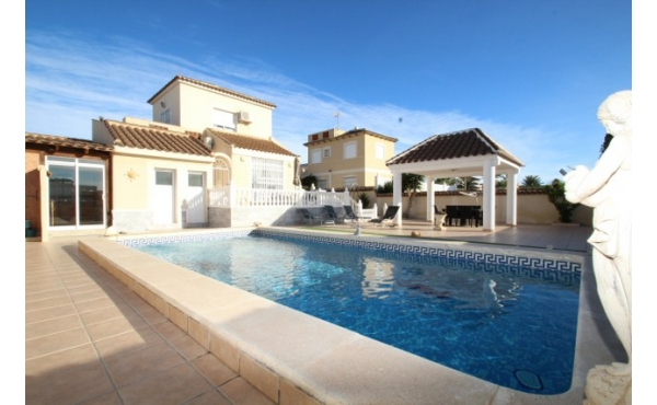 Detached villa with private pool.