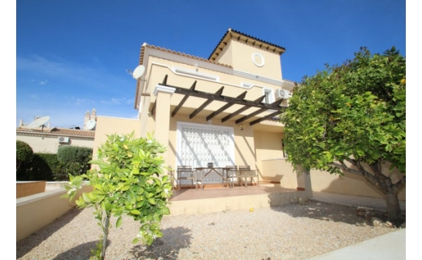 Detached villa with sunny garden.